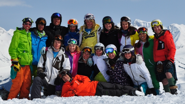 Group ski in Whistler
