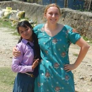 Rebecca's last day at school in Nepal