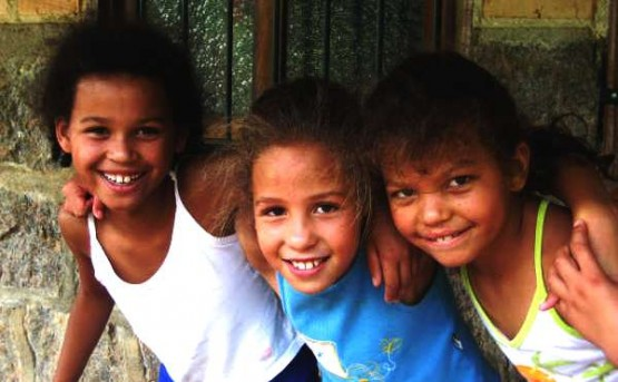 three kids from Sao Paulo
