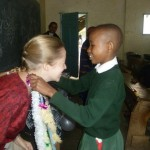 Amy's last day at school as a volunteer teacher with Oyster