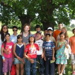 Volunteer with kids in Romania