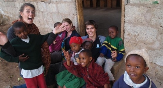 Volunteering with kids in Tanzania