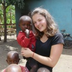 Volunteer with kids in Tanzania