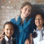Volunteer teaching Nepal