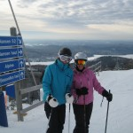 Skiing with Amy and Margo - Gap year with Oyster in Tremblant