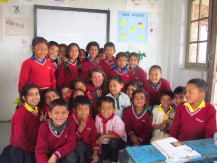 Melanie Volunteer Teaching in Nepal