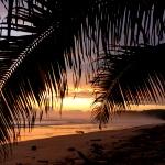 The sun sets over the sea in Costa Rica