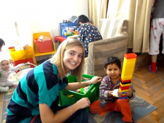 volunteering with kids in Romania