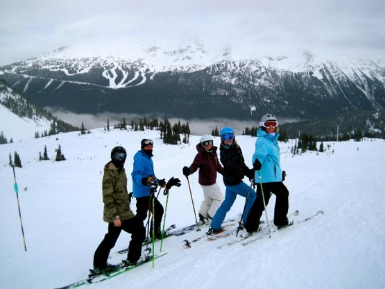 Family reunion in Whistler Canada
