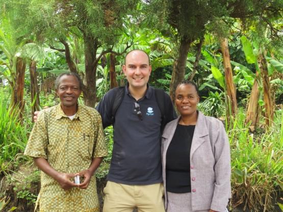 Jon with Tanzanian family