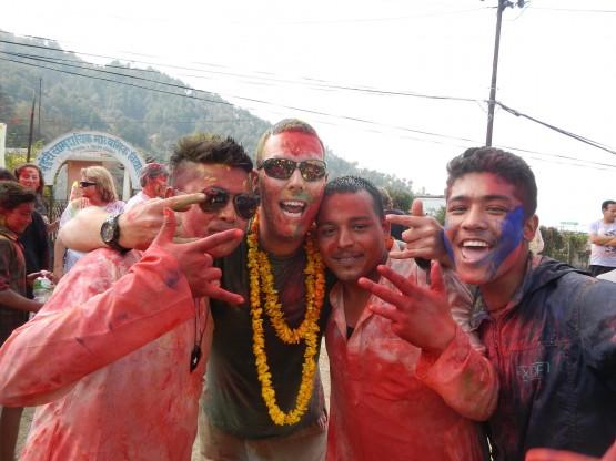 Celebrating Holi 2014 in Nepal