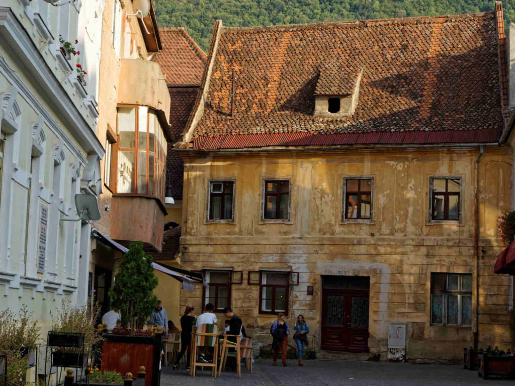 The old buildings of beautiful Brasov