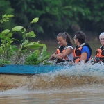 Families help with protecting the rainforest in Borneo