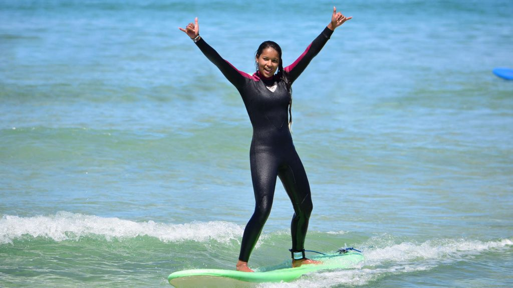 Girl on a board