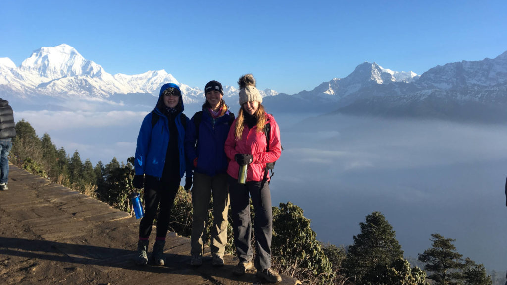 Trekking in Poon Hill, pause for a photo