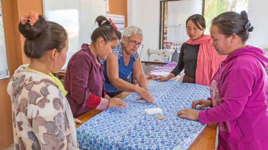 Women during a workshop