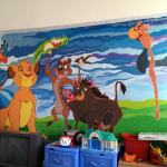 Mural on the wall in the children's hospital in Brasov