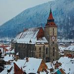 The Black Church in Brasov under a blanket of snow
