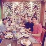 Medical interns enjoying welcome meal