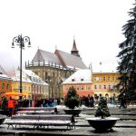 Brasov looks beautiful under the winter snow
