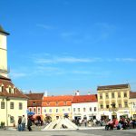 Brasov main square in the height of summer