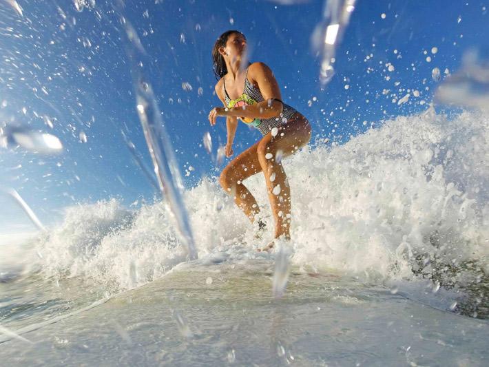 Surfing on adventure travel holiday