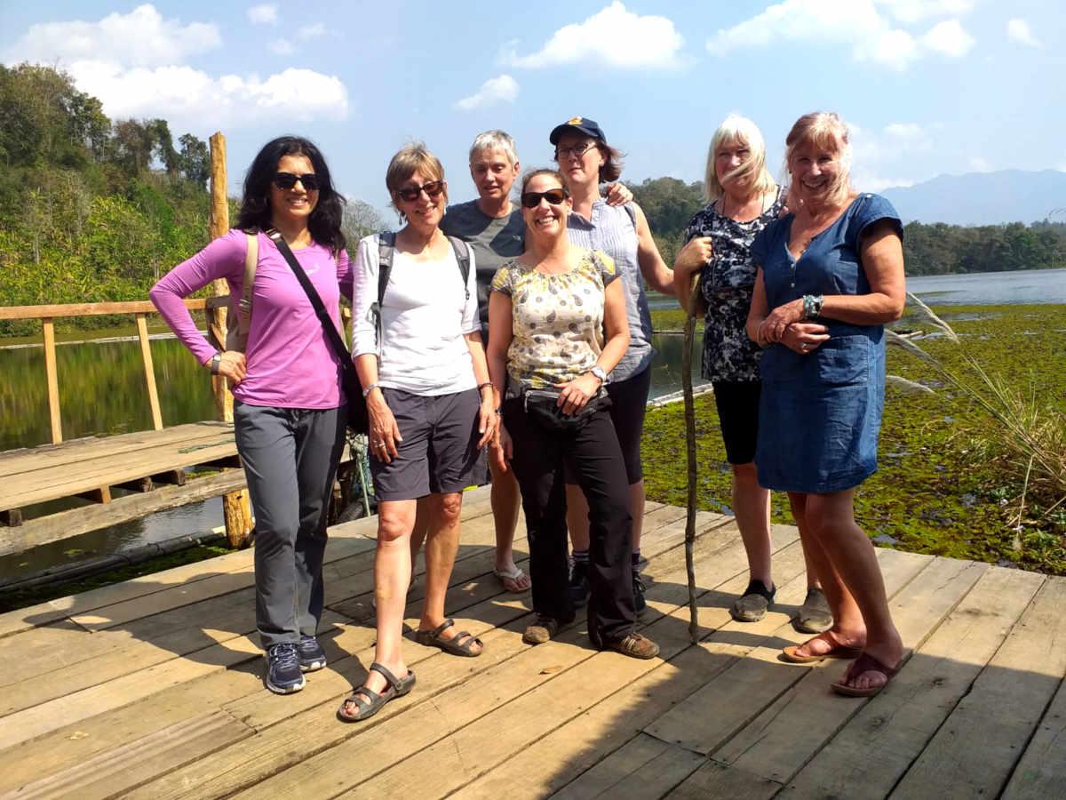 The over 40s volunteer group in Laos