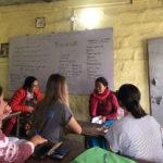 Ella teaching in Nepal