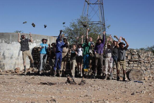 Family volunteering in Namibia