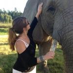 Ayla Ramadan - volunteer with elephants
