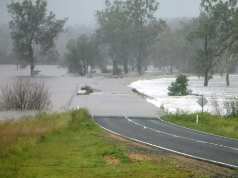 Flooding in Australia caused by Cyclone Oswald