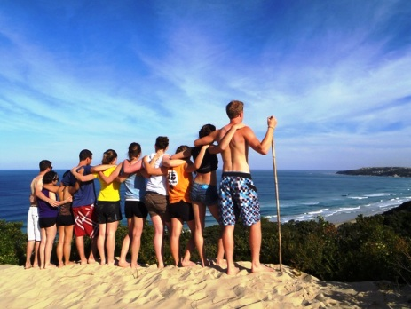 Australia group project staring out over the sea