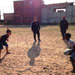 kids playing football in Brazil at the youth centre in Diadema