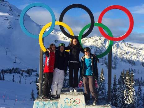 Group photo working abroad in Whistler as ski instructors