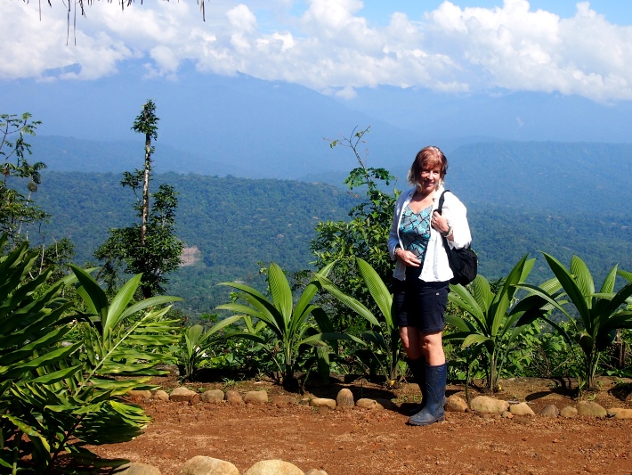 Diana enjoys the stunning views whilst volunteering in the rainforest in Ecuador