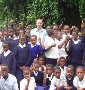 Jon in Tanzania volunteering