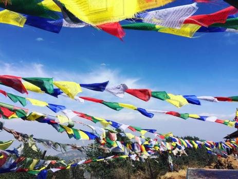 Colourful prayer flags in Nepal