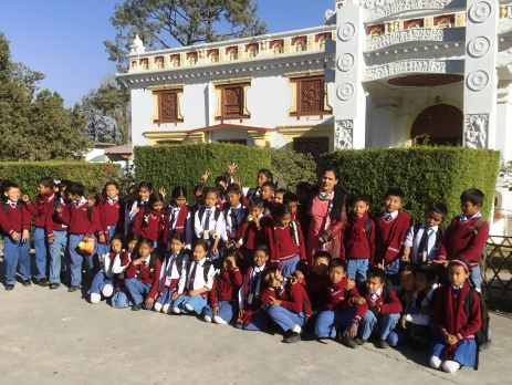 School children in Nepal on school trip to the National Museum