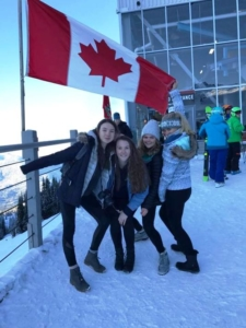 Oyster ski instructors enjoying Whistler