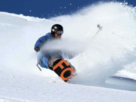 Snowboarding pro in Whistler