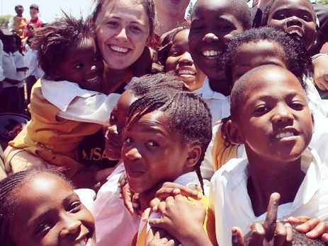 Volunteer with group in South Africa