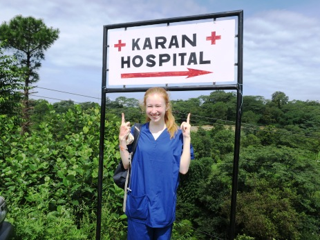Karan hospital sign in Palampur, India