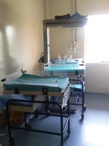 Neonatal room in a hospital in Delhi