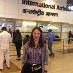 Medical volunteer at Indian airport