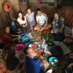 Volunteers eat with local families in Borneo