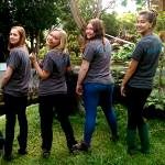 Volunteers model their Oyster Worldwide volunteer t-shirts in Malaysia