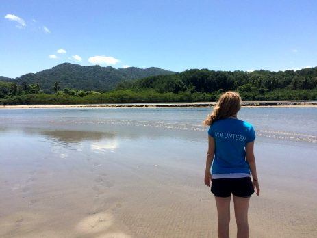 See some stunning parts of the world as you are volunteering with animals abroad - this volunteer enjoys the view on the beach in Costa Rica on Oyster's turtle conservation project