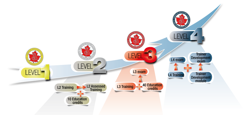 Levels of CSIA certification