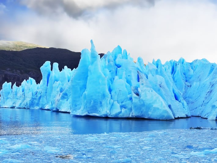 View of the icebergs in Chile