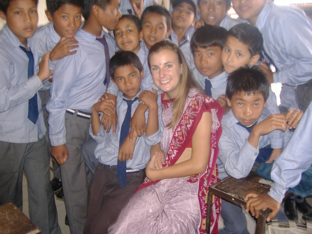 Leah Arnold 2008 Nepal Teaching